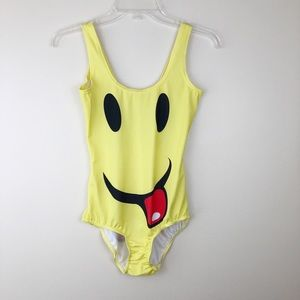 NWOT Emoji One Piece Swimsuit